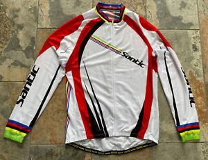 Santic Cycling Jersey Men's Long Sleeve Full Zip Race Cut 3XL Pre-owned EUC