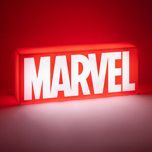 Dekolampe Marvel Logo mit zwei Leuchtmodi Dekolicht Marvel Nachtlicht Comic