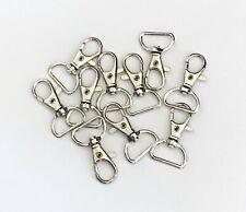 10 pcs Silver Tone Lobster Clasp Swivel Trigger Clip Hook Key Ring Keychain 63b