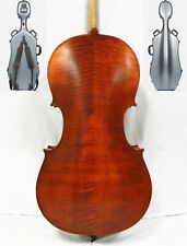 ADVANCED 4/4 SIZE CELLO,PROFESSIONAL SET UP+ HARD CASE+ FREE SHIPPING!