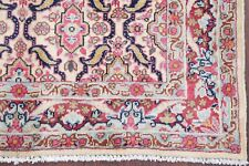 Vintage All-Over Kashmar Ivory Oriental Hand-Knotted 3x5 Wool Rug Floral Carpet
