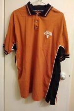 Texas Longhorns Starter Mens Orange Embroidered Short Sleeve Golf Polo Shirt XL