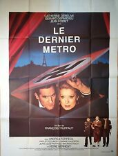 Affiche cinéma LE DERNIER METRO Truffaut Depardieu Deneuve -  120 x 160 cm