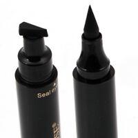 2 in 1 Winged Eyeliner Stamp Waterproof Makeup Eye Liner Pencil-Black Liquid z