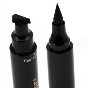 2 in 1 Winged Eyeliner Stamp Waterproof Makeup Eye Liner Pencil Black Liquid Pro