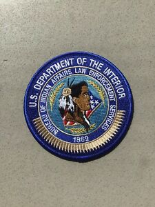 US Department Of The Interior Indian Affairs Police Agent Patch