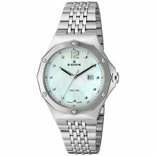 Edox 540043MNAIN Women's Delfin Silver-Tone Quartz Watch