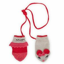 CATIMINI Designer Baby Mittens with String, 3-6 Months, Mice Design