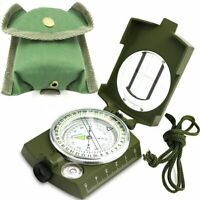 Professional Military Army Metal Sighting Compass Clinometer Camping Hiking Kits
