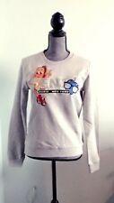 Kenzo Pairs Cotton Embroiled Gray Color Sweater Shirt Size M New