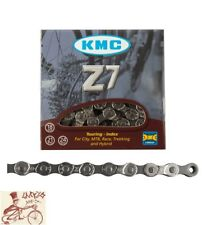 "Kmc Z7 6-7-8-Speed 1/2"" X 3/32""-116 Links Silver Mtb-Road Bicycle Chain"