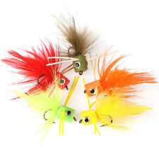 5pcs/lot Dry Flies Surface Topwater Popper Fly Fishing Lures Bait Hook Trout