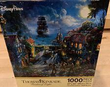 Disney Parks Thomas Kinkade Pirates Of The Carribean 1000 Piece Puzzle Rare New!