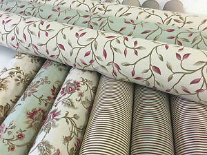 Mirabel Style Tapestry Elegance Leaves Flowers Cream Cherry Red Curtain Fabric