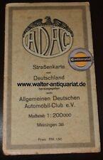 ADAC Landkarte Straßenkarte von Deutschland Nr. 38 Meiningen um 1932 road map