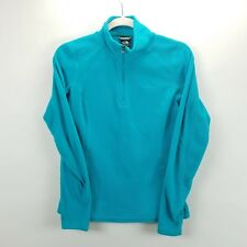 The North Face Fleece Sweater Size XS 1/4 Quarter Zip Blue Long Sleeve Pullover