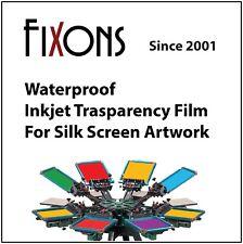 """Waterproof Inkjet Transparency Film 17"""" x 22"""" - 100 Sheets"""