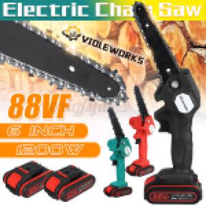 88VF 6'' Cordless Elettro Sega Elettrico Motoseghe a Batteria Con 1/2 Batteria