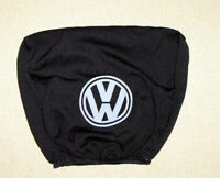 2 black headrest covers in black for Volkswagen VW Golf Passat