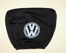 2 black headrest covers in black for Volkswagen VW Golf Passat
