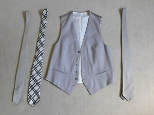 Rarität! Stresemann-Anzug, Herren, incl. Weste und 3 stilvollen Seiden-Krawatten