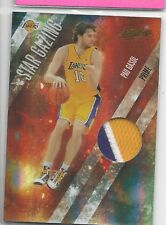 Pau Gasol Absolute Memorabilia 3 color patch PRIME Jersey #'d/10 NBA Card LAKERS