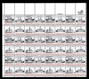 U.S. #1782a Architecture 15 Cent Issue - Sheet of 48 - OGNH - CV$14.80 (ESP#561)