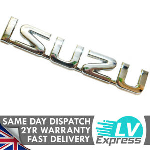 Chrome Car Badge Tailgate Boot Rear Door Wing 142x25mm Compatible with Grafter