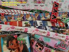 GROSGRAIN PRINTED GROSGRAIN RIBBON LOT FOR HAIR BOWS