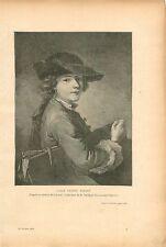Carle Vernet Enfant Tableau de Lépicié Peintre GRAVURE ANTIQUE OLD PRINT 1910