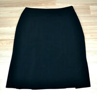 JACQUI E Womens Black Straight Pencil Pleated Work Skirt - Side Zip - Size 12