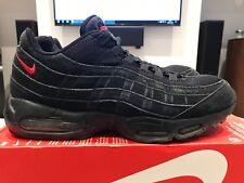 Nike Air Max 95 NikeiD personnalisée en daim noir rouge taille US 12 UK 11 EUR 46