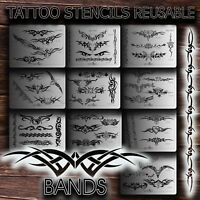 Airbrush Tattoo Stencils REUSABLE BANDS New u