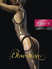 Fiore SECRETO Sensuous Fishnet Bodystocking Bodysuite Lingerie Sexy Hot Party In