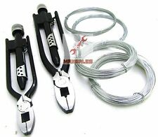 "6"" & 9"" Aircraft Safety Wire Twist Twister Pliers w/ Spool Wire Tie Safety Wire"