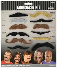 Amscan Perfect Birthday Lets Party Assorted Mustache Kit Accessory, Felt, Pac.