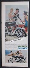 Life Begins At 125 Harley Davidson Rapido 125cc Motorcycle 1/2 Page Print Ad