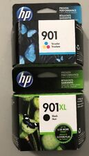 2 GENUINE HP 901XL BLACK & 901 TRI-COLOR INK CARTRIDGES -  SEALED BOXES - 2017