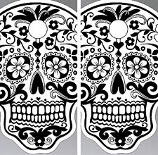 C38 Sugar Skull Cornhole Board Wrap LAMINATED Wraps Decals Vinyl Sticker
