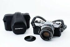 N-Mint 🌟 Olympus OM-1 Silver 35mm SLR Film Camera + 50mm f/1.8 Lens from Japan