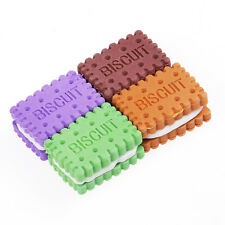 4 piezas Muy monos Mini Biscuit Goma Borrador De Lápiz Para infantil