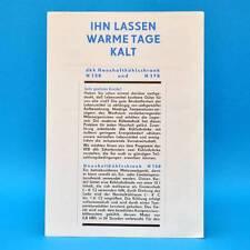 dkk Haushaltskühlschrank H 130 H170 l DDR 1970 | Prospekt Werbung Werbeblatt D