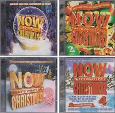 Now That's What I Call Music CHRISTMAS Volume 1 2 3 4 Various Artists 8 CD Lot