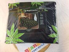 Pot Marijuana Full  Sheet Set Fitted sheet flat sheet pillow cases NEW nice