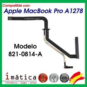 CABLE FLEX SATA PARA APPLE MACBOOK PRO A1278 821-0814-A CONECTOR HDD DISCO DURO
