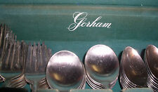 "VINTAGE GORHAM SILVER PLATE FLATWARE WOODEN BOX INITIAL ""S"" ENGRAVE HOLIDAY TIME"