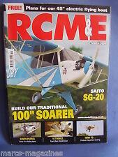 """RCM&E OCTOBER 2009 45"""" SPAN ELECTRIC FLYING BOAT PLANS WAVE TON VAN MUNSTEREN"""