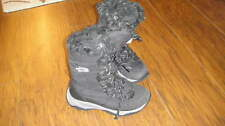 THE NORTH FACE GIRLS 1 BLACK FAUX FUR WINTER BOOTS