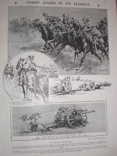 Army Manoeuvres Tommy Atkins dans son élément Christopher Clark 1908 old prints