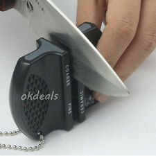 New Kitchen Home Blade Ceramic Carbide 2 Step Sharpener Camp Sharpening Tool